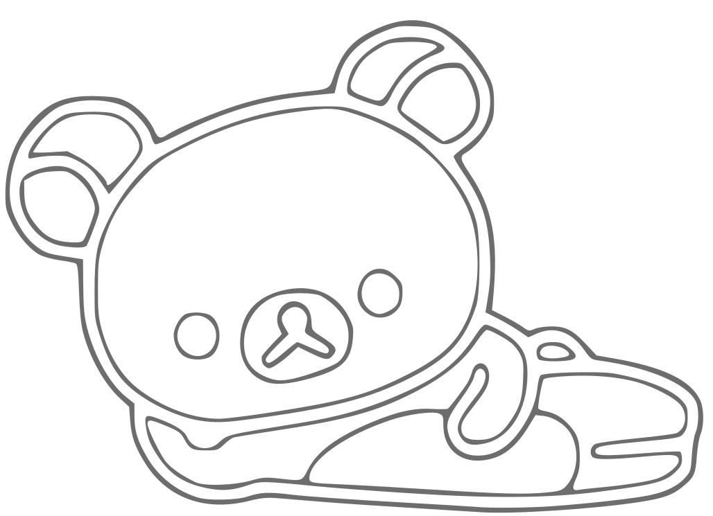 rilakkuma bear coloring pages - photo#2