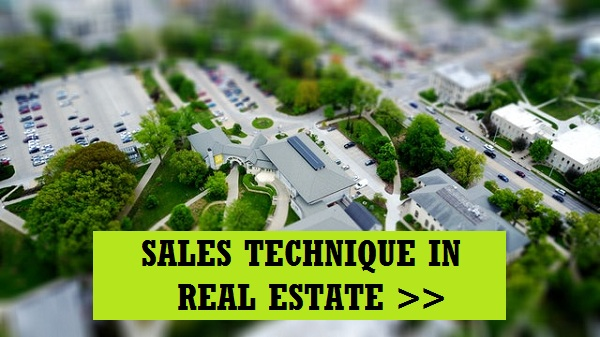 Sales technique in real estate