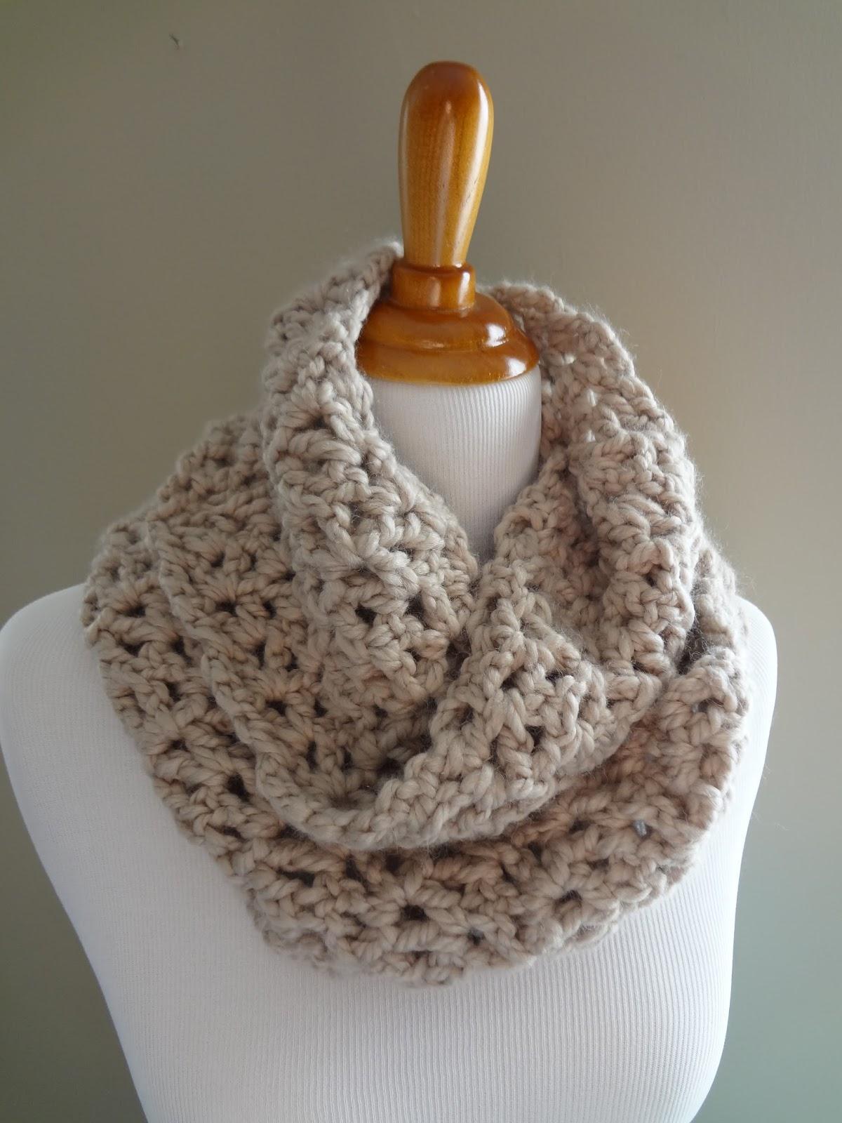 Free Crochet PatternPavement Infinity Scarf Easy Free Crochet Infinity Scarf Pattern