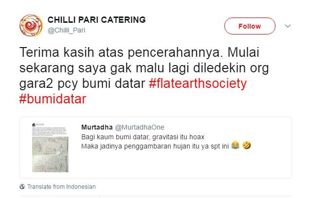 Anaknya Jokowi Ternyata Kaum Bumi Datar, Para Pembully Pun MINGKEM Semua!