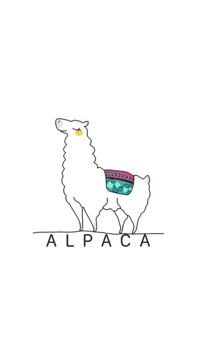 Simple white Alpaca