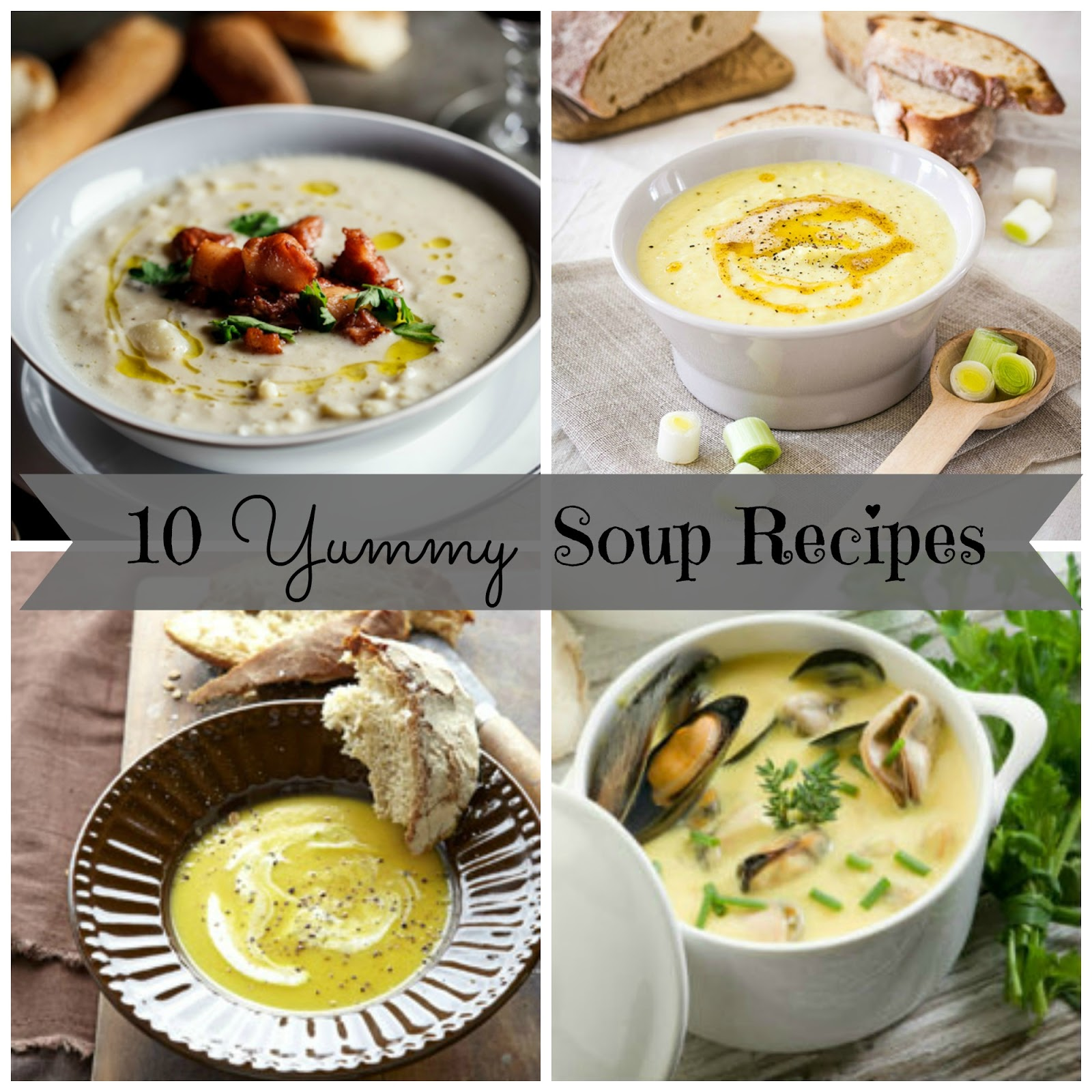 Couches And Cupcakes: 10 Yummy Soup Recipes