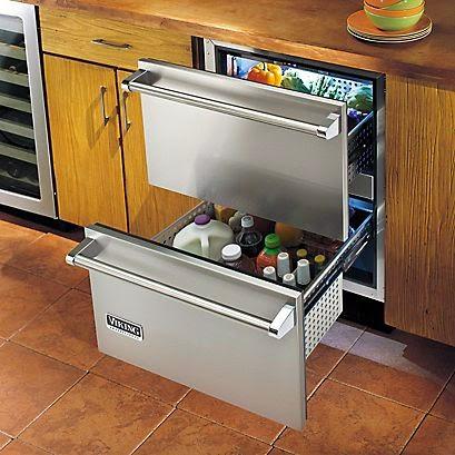 Viking fridge drawer set