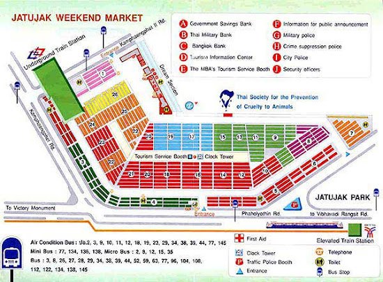 Map of Chatuchak Weekend Market