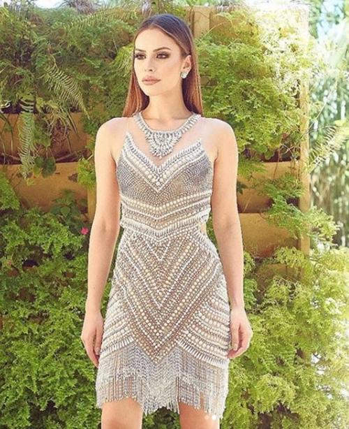 vestido de festa curto bordado