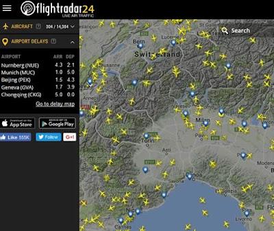 Come seguire un aereo in tempo reale