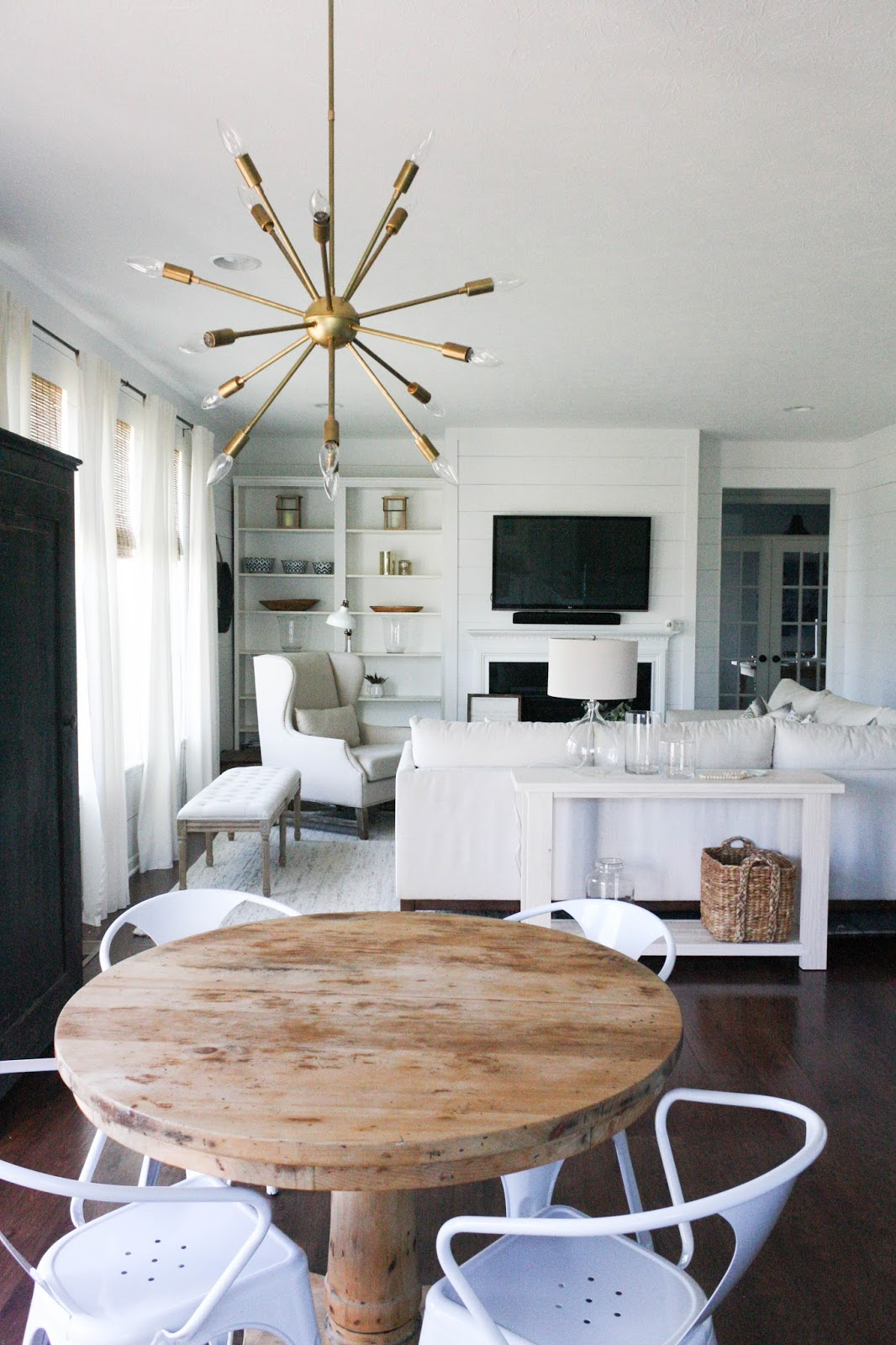 Rustic White Living Room Tables