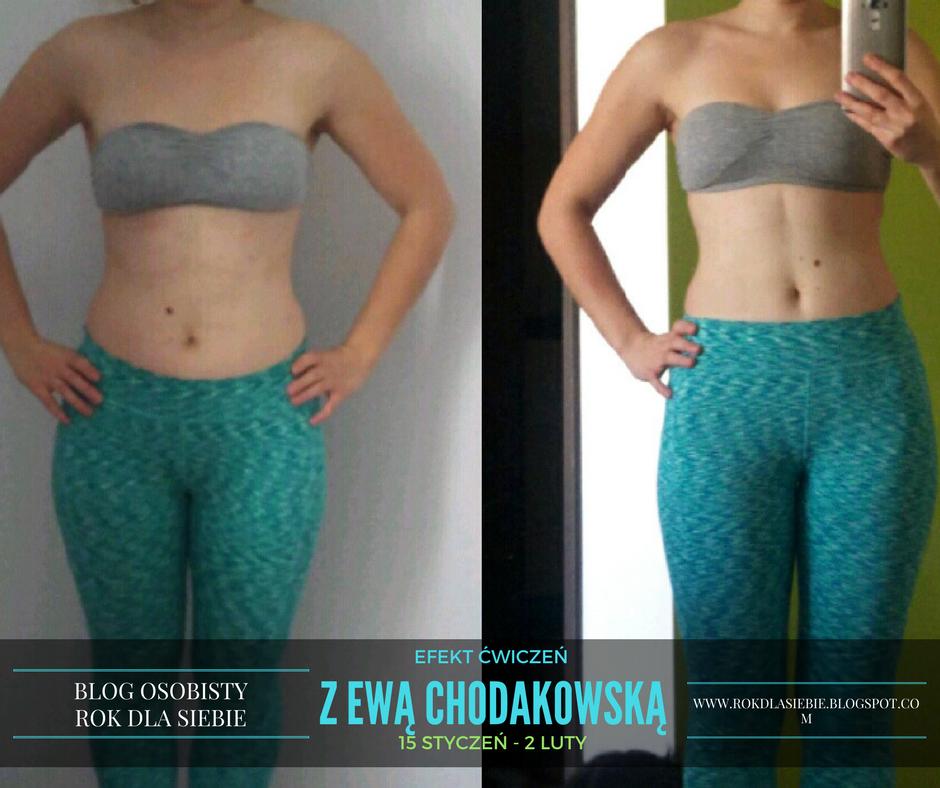 Efekty ćwiczeń z Ewą Chodakowską