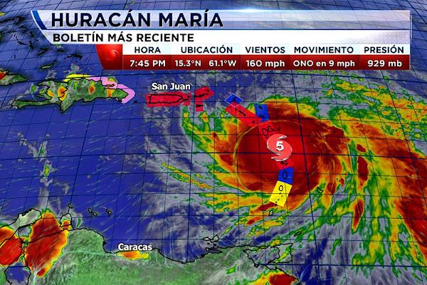 Huracán María con categoría 5 se quiere tragar a todo el Caribe