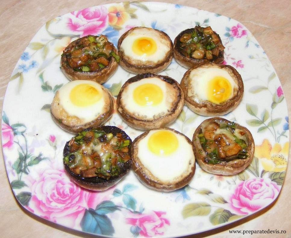 Ciuperci umplute cu oua de prepelita reteta,