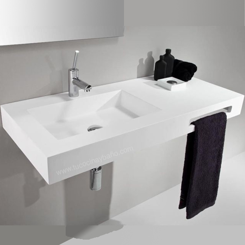 lavabos en solid surface tipo corian krion