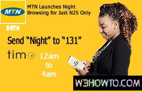 MTN 500MB Night Plan at 25naira