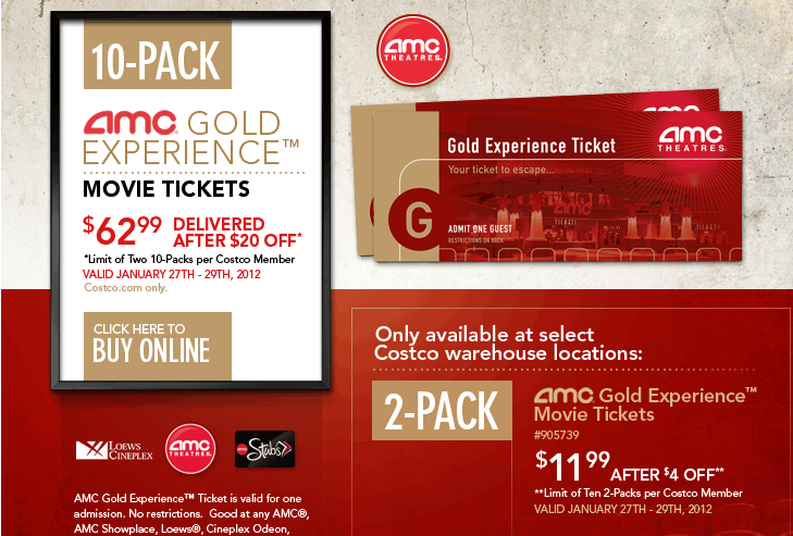 AMC Paper Tickets On Sale
