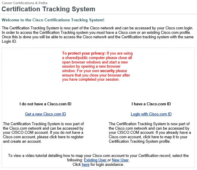 Cisco Certificate Tracking System