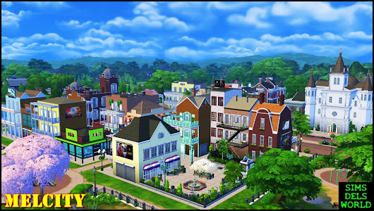 The Sims 4 : Melcity Project - Nowe miasto / new city!