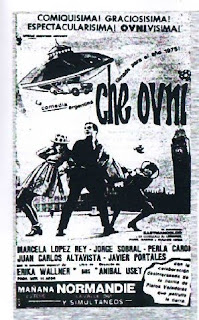 cartel de película de ovnis y extraterrestres