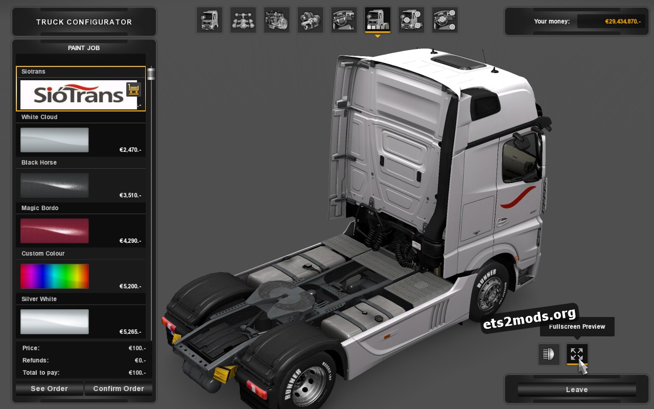 Siotrans Skin for Mercedes MP4