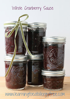 Use a water bath to take advantage of the last of the season's cranberries; make whole cranberry sauce.