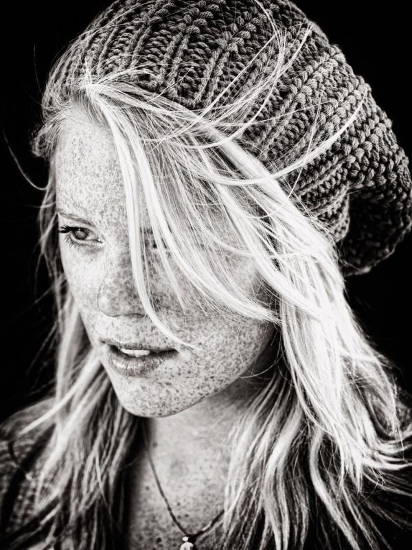 retratos en blanco y negro.