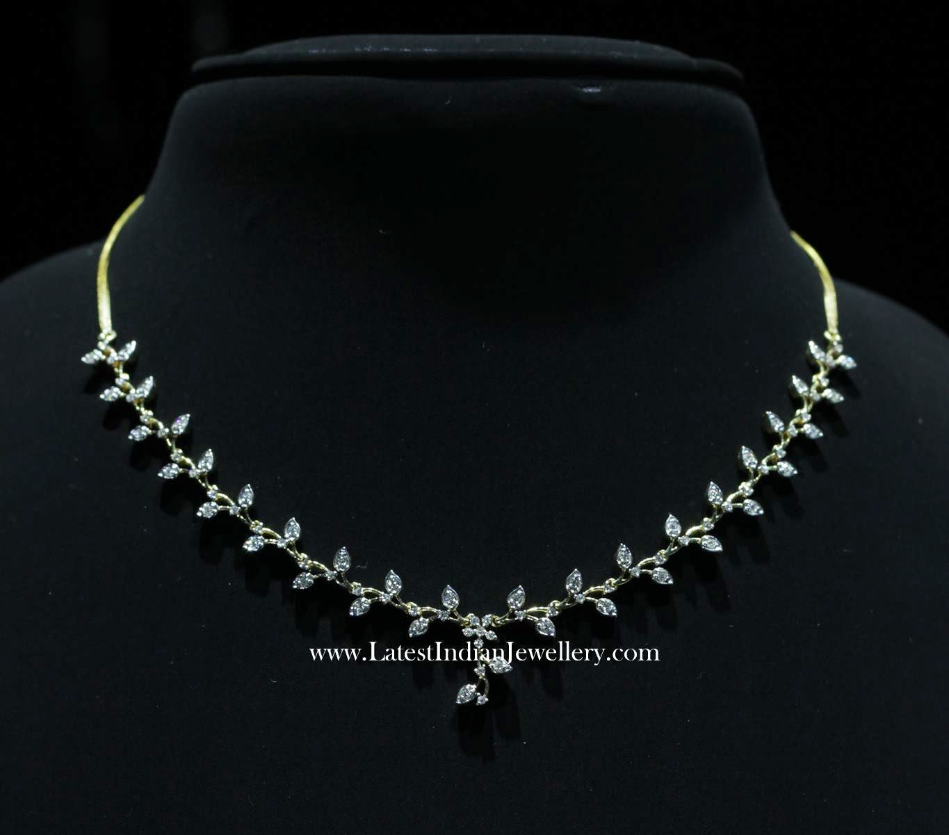 Delicate Light Weight Diamond Necklace