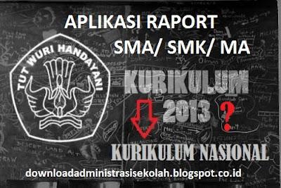 Aplikasi Raport Kurikulum 2013 SMA