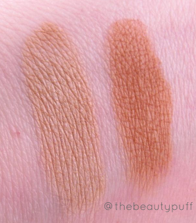 the organic face bronzer swatch - the beauty puff