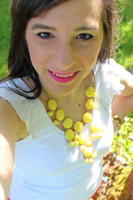 Yellow Bubble Necklace shouts spring is here!