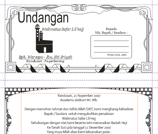 Gratis Download Undangan Walimatus Safar Lil Haj