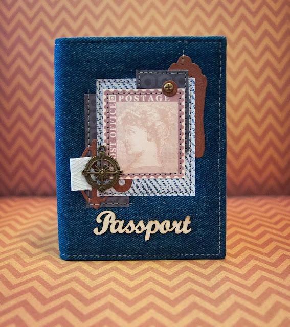 Джинсовая обложка на паспорт, мужская обложка на паспорт, обложка на паспорт, обложка ручной работы, обложка для документов