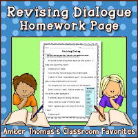 https://www.teacherspayteachers.com/Product/Revising-Dialogue-Homework-Sheet-FREE-1236504