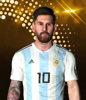 PES 2017 Faces Lionel Messi by Ben Hossam FaceMaker