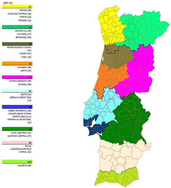 qzp mapa PROFESSORES LUSOS: O mapa dos novos 10 QZP que o MEC quer criar qzp mapa