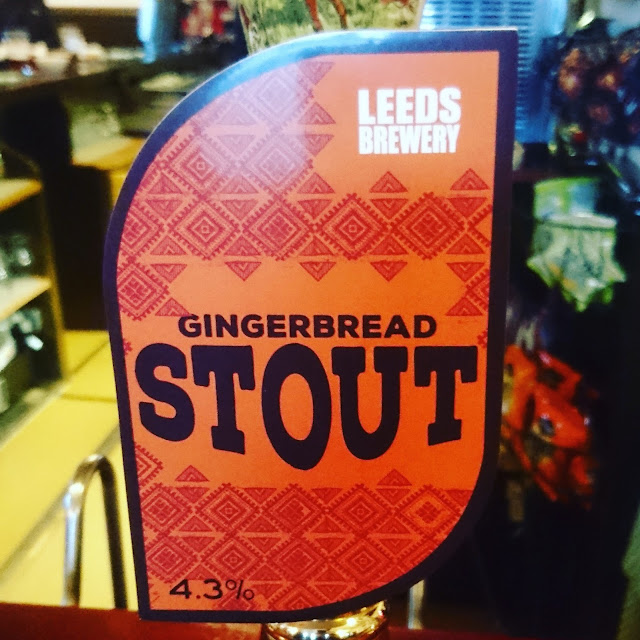 Yorkshire Craft Beer Review: Gingerbread Stout from Leeds Brewery real ale pump clip