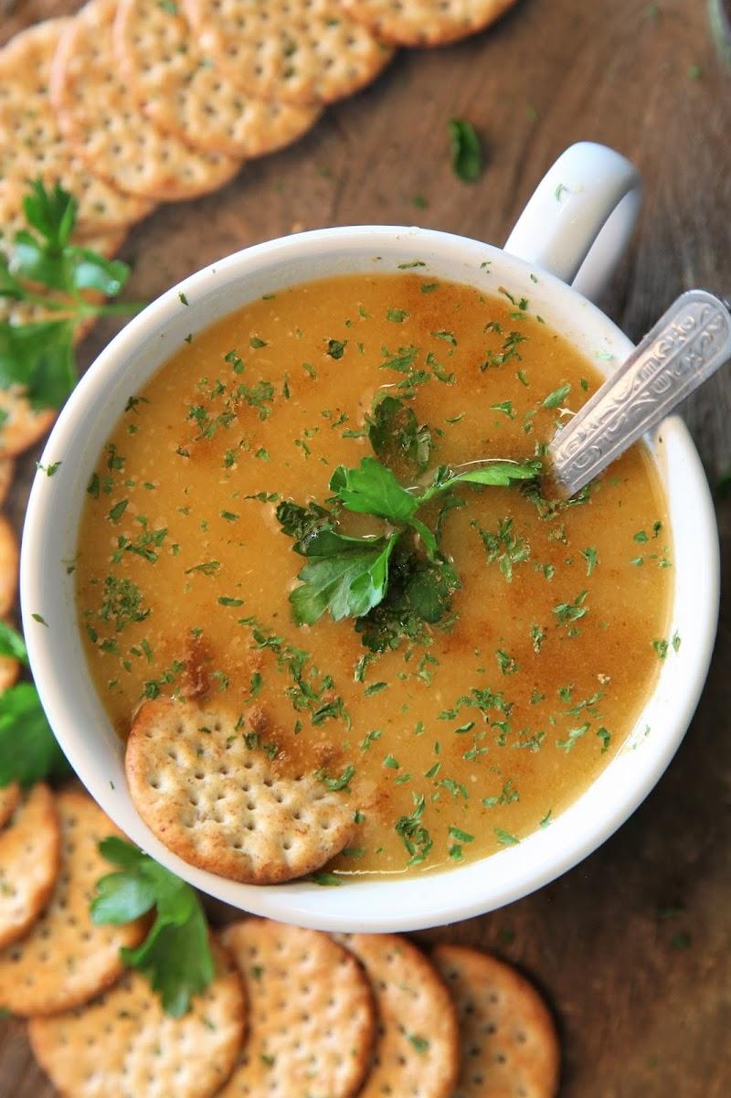 Yellow Lentil Soup Recipe (Mediterranean Lentil Soup)