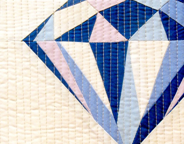cut stitch and piece quilt patterns blue diamond mini quilt