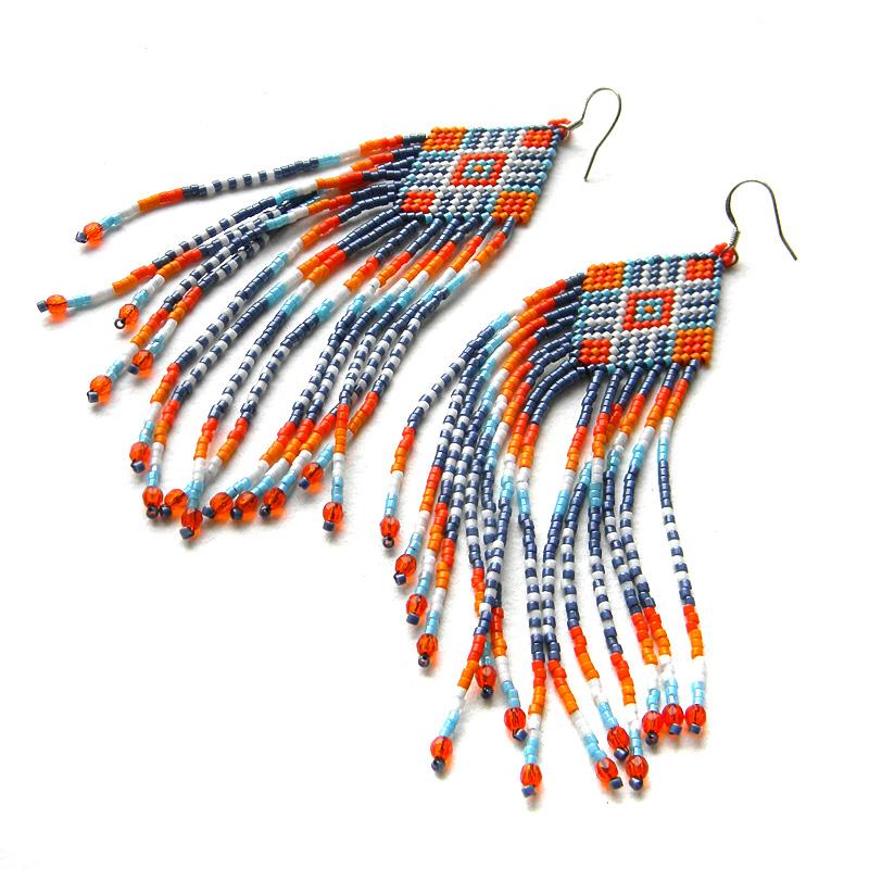 seed bead earrings beadwork jewelry dangle beaded earrings anabel27