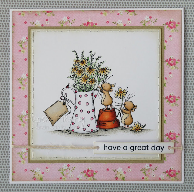Cute floral card using Delightful Daisies image from LOTV