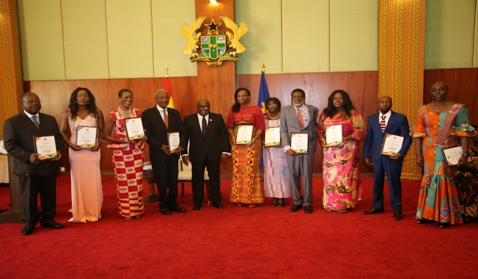 President Akufo-Addo Honours 10 Pioneer Ghanaian Foreign Service Officers.
