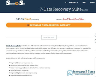Giveaway : 7-Data Recovery Suite 4.0 gratuit !