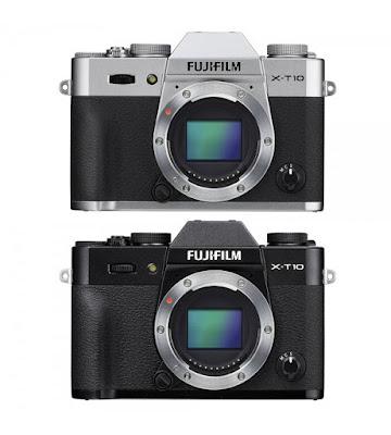 Penampakan bagian depan Fujifilm X-T10 Body Only