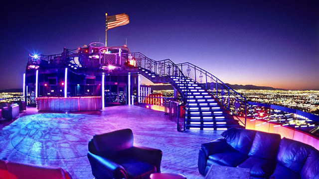 Vista do Bar Mix Lounge em Las Vegas