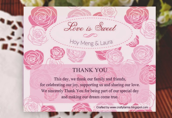 Wedding Card Malaysia Crafty Farms Handmade Love Is