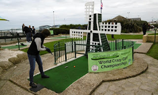 Windmill hole at Hastings Crazy Golf