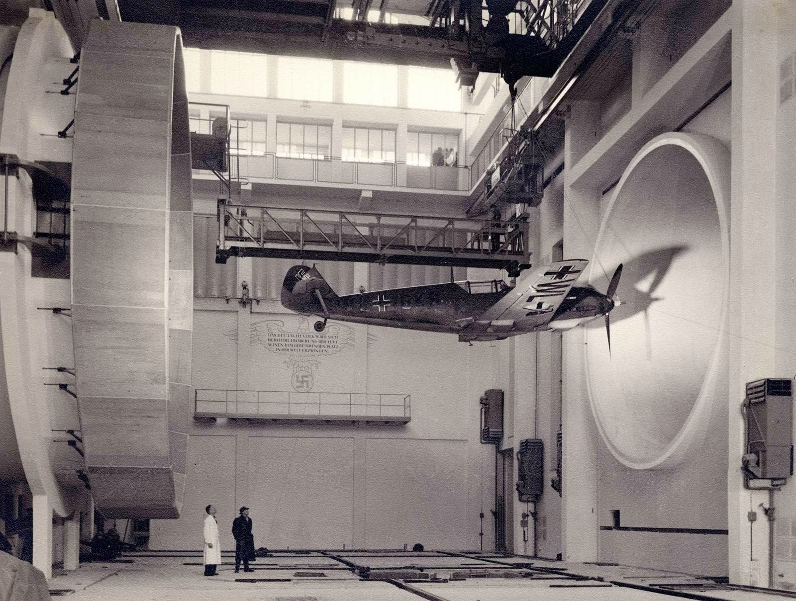 German scientists testing a Messerschmitt Bf 109, 1940.