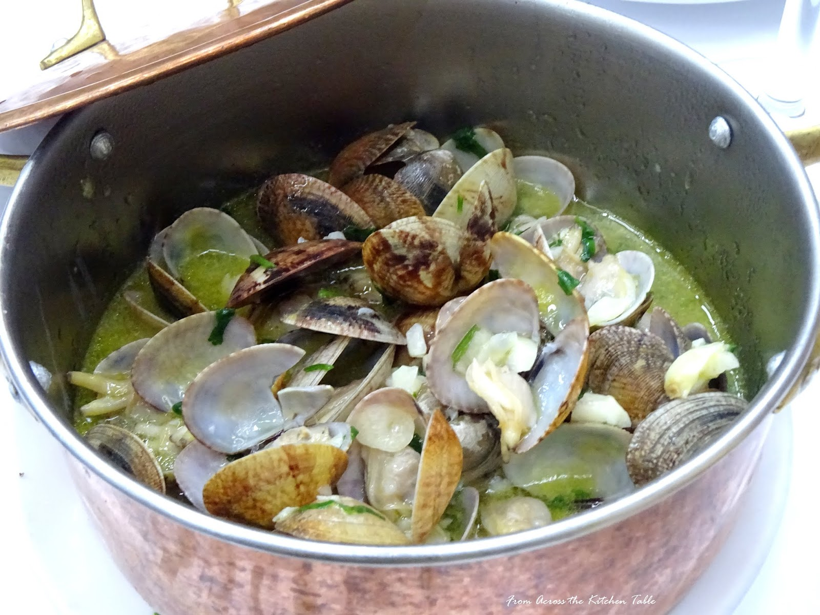 From across the kitchen table garlic clams watchthetrailerfo