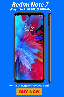 Redmi Note 7 (Onyx Black, 64 GB)  (4 GB RAM) from Flipkart