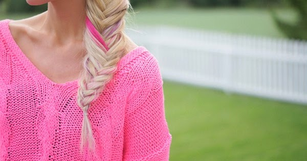 Pink Fashion Girl Hair Style Cute