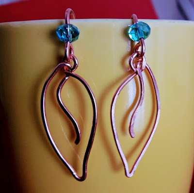 Copper Wire Ear Rings, Copper Jewelry