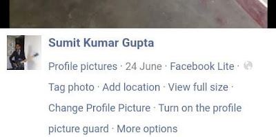 click on the tun on the profile picture guard link