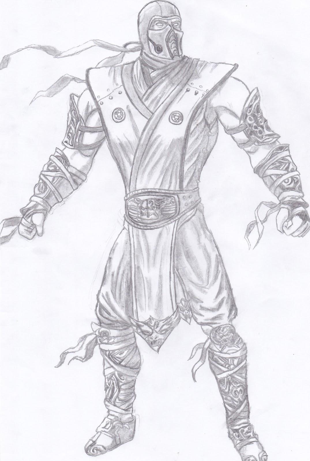 Desenho Mk 9 Sub Zero